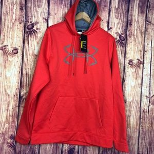 Under Armour Mens Sweatshirt Sz L  Orange SZ L